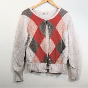 Old Navy Cotton Acrylic Blend Button Up Cardigan M